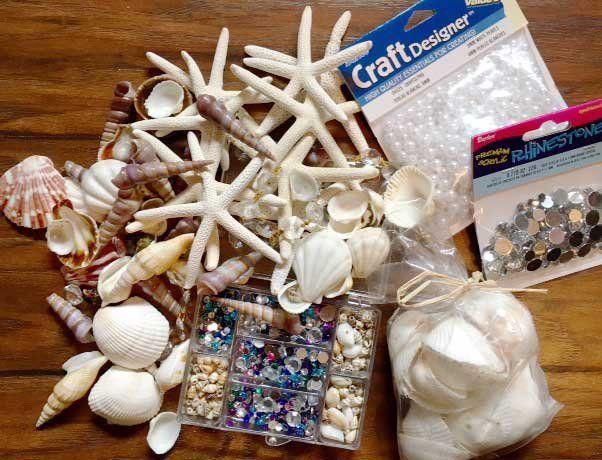 Mermaid Crown making supplies! Shells and jewels for DIY Mermaid Crown