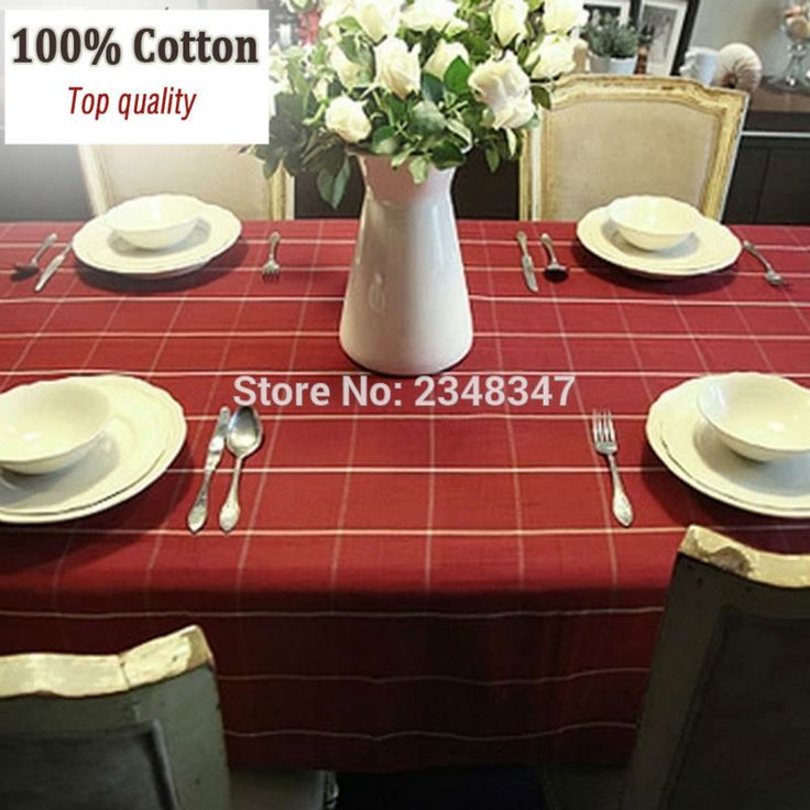 ==> [Free Shipping] Buy Best Pure Cotton Classic Dinner Party Table Cloth Photography Prop Desk Sofa Cover Square Rectangular Picnic Outdoor Red Plaid Check Online with LOWEST Price | 32794972293