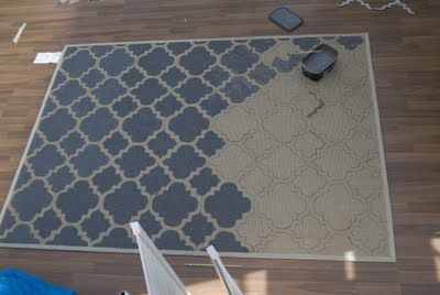 Paint your own rug. Yes, I would be that insane to do this. And then regret it when I'm smack dab in the middle of it.