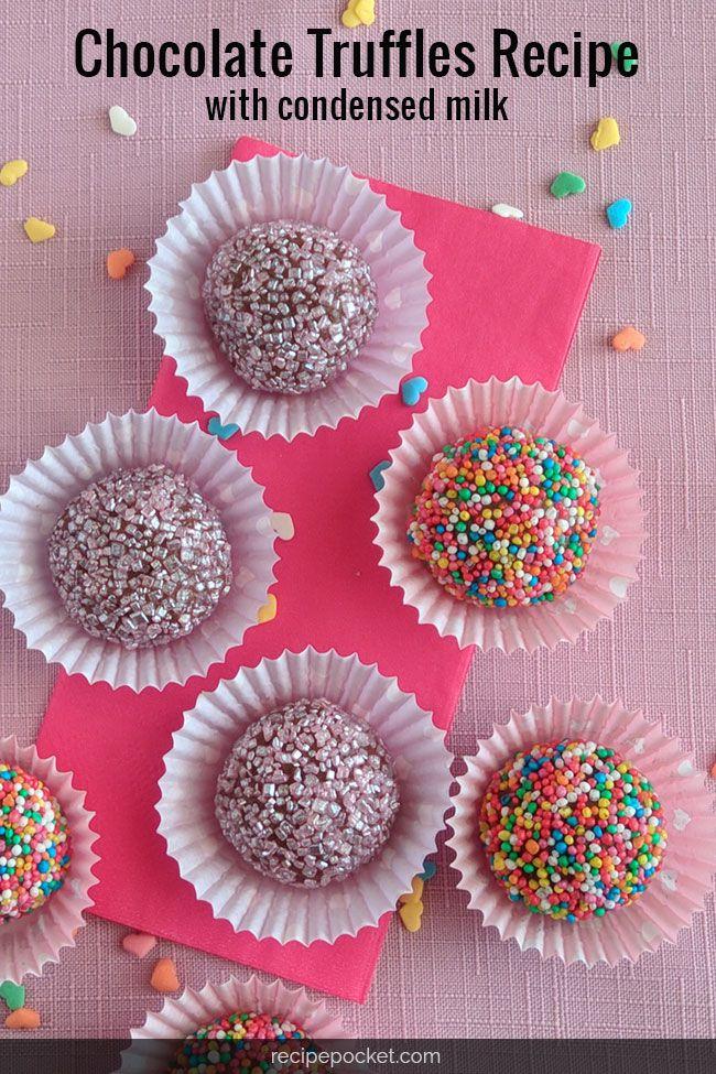 Chocolate Truffles With Condensed Milk Recipe Chocolate Truffles Chocolate Truffles Recipe Easy Condensed Milk Recipes
