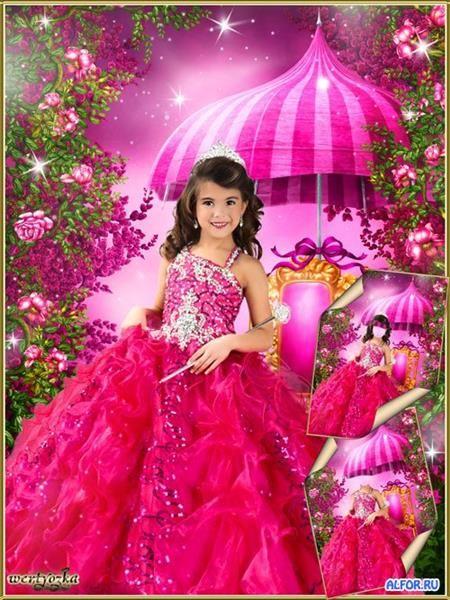 Детское малиновое платье фея №27