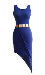 DR084 Cotton Asymmetrical Dress