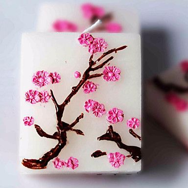 3pc Sakura Cherry Blossoms Candle For Wedding Party Baby Shower Birthday Souvenirs Gifts Favor - USD $ 8.49