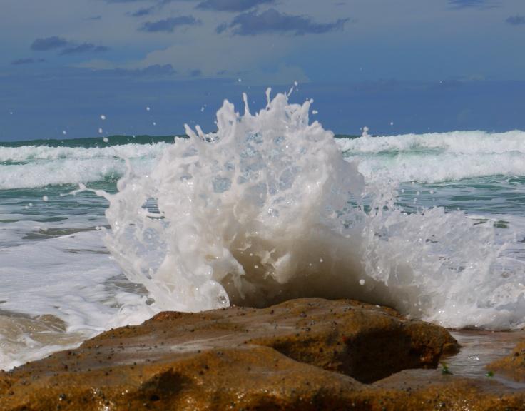 Wave, rocks, Hibiscus Coast, South Africa