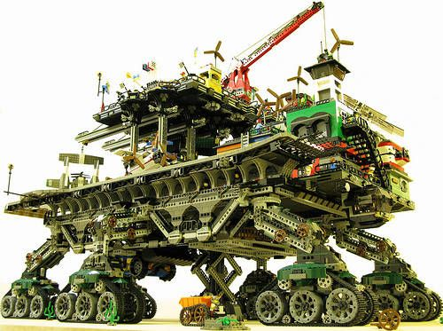 Steampunk Lego City Traverses the Wastes of the Future in Style