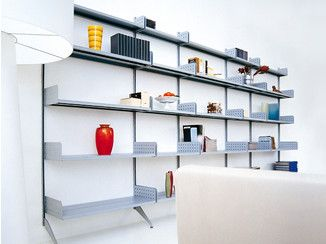 Libreria a parete in acciaio TRIESTE | Libreria a parete - REXITE