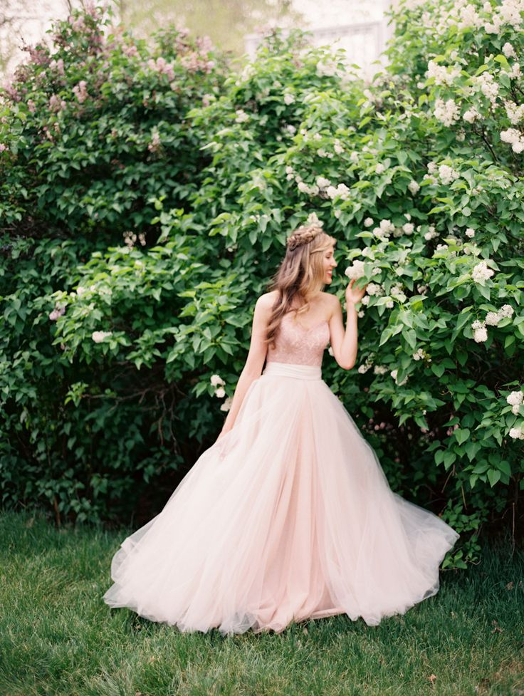 Blush Wedding Gown By Watters Available At Anna Be Denver Flowers Violet