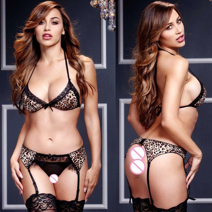 2017 leopard bikini+garter belt mini skirt erotic lingerie pole dance low cut women sexy lingerie hot porn sexy costumes 443 - free shipping worldwide