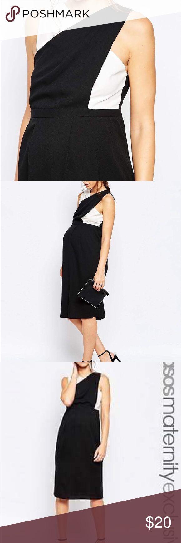 Maternity dress size 10 ASOS Black and white maternity dress ASOS Dresses Midi