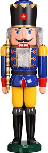 German nutcracker King blue height 60 cm  24 inch original Erzgebirge by Seiffener Volkskunst * Check this awesome product by going to the link at the image.