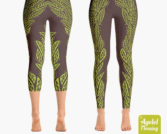 Elvish Leggings, Sexy Leggings, Printed Leggings, Women's Leggings, Yoga Pants, Yoga Leggings, Polynesian Clothing, Tribal Leggings