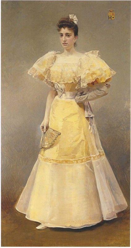 Portrait of Countess of Santiago by Joaquin Sorolla y Bastida