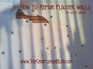 How To: Repair Plaster Walls - Big Wally's ultimate repair adhesive: 4-step process - conditioner, tube of plaster caulk, skim coat with joint compound, sand - ready to paint or paper.
