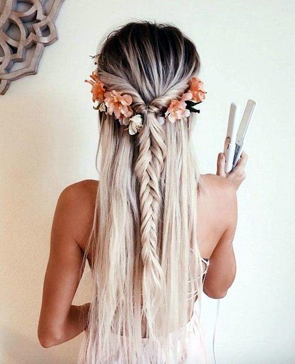 easy-half-up-half-down-hairstyles-15… | Fashion Haircuts