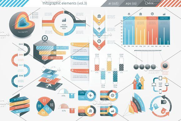 Infographic Elements (v3) by Infographic Paradise on @creativemarket infographic template word infographic template powerpoint free editable infographic templates infographic template psd infographic template illustrator infographic timeline template infographic template google docs infographic generator