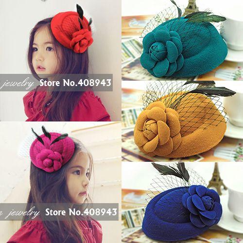 Barato nova moda 11 cores menina/mulher fascinator penas chapéus grampos de cabelo flor de lã grampos cocktail h9511 acessórios nupciais do cabelo, Compro Qualidade Roupas & acessórios diretamente de fornecedores da China:         ----------------------------------------------------