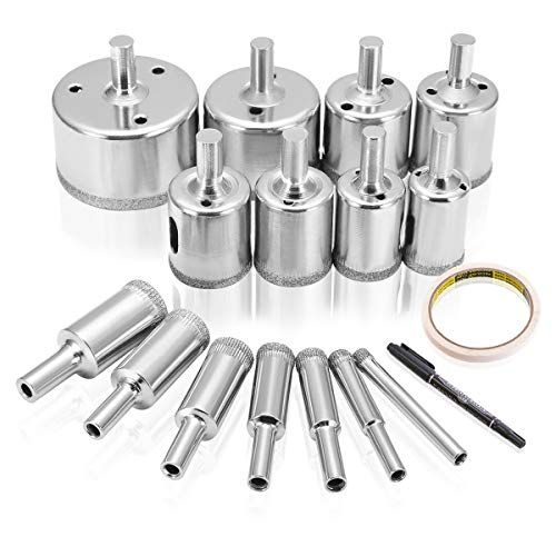 Drillpro Diamond Hole Saw 15 Pcs Tile Hole Saw Drill Bit Https Www Amazon Com Dp B06xw845z9 Ref Cm Sw R Pi Dp U X N In 2020 Tile Installation Drill Bits Hole Saw
