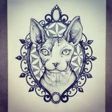sphynx cat tattoo - Google Search