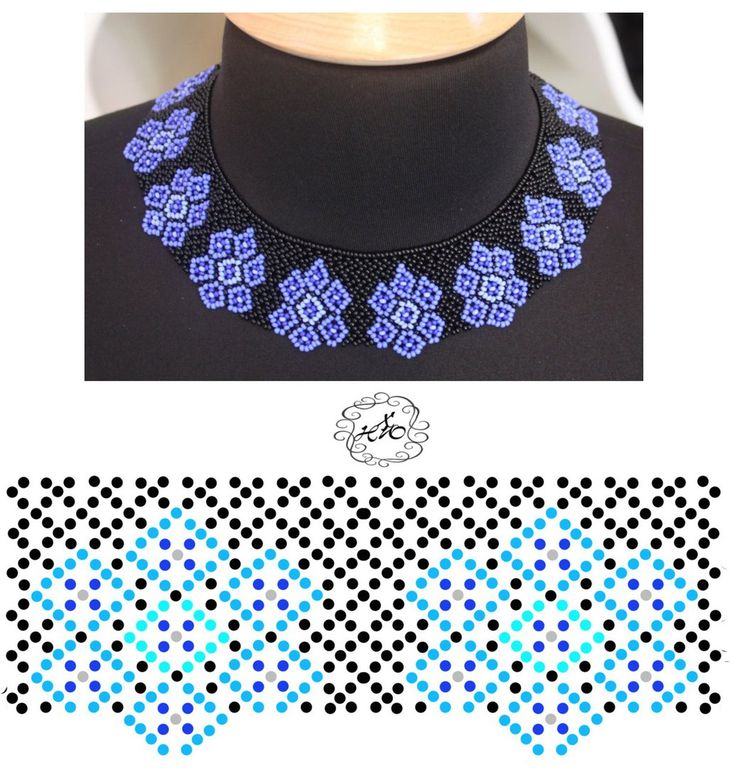 Schema for netting necklace ~ Seed Bead Tutorials