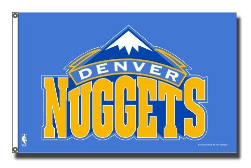 NBA Denver Nuggets Banner Flag 3Foot by 5Foot ** Want additional info? Click on the image.