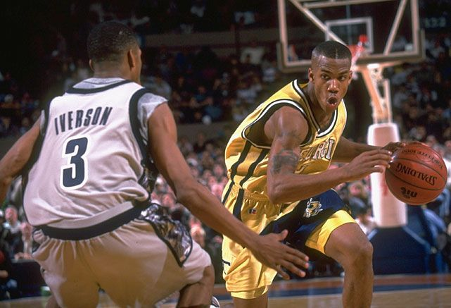 Allen Iverson vs. Stephon Marbury- Watch the first ever NBA meeting between the two: http://www.famefix.net/looking-back-allen-iverson-vs-stephon-marbury/