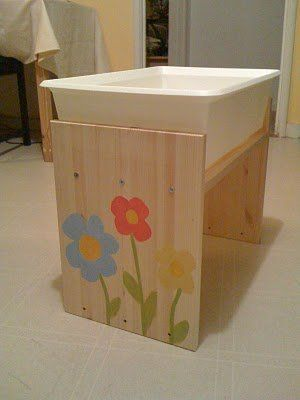 Sensory Table How To- made from ikea rast table