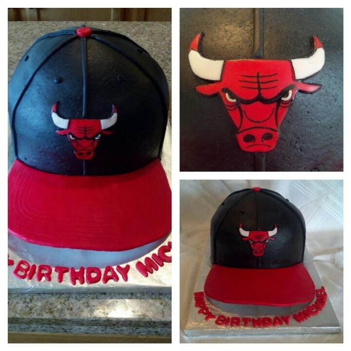 Chicago Bulls hat cake