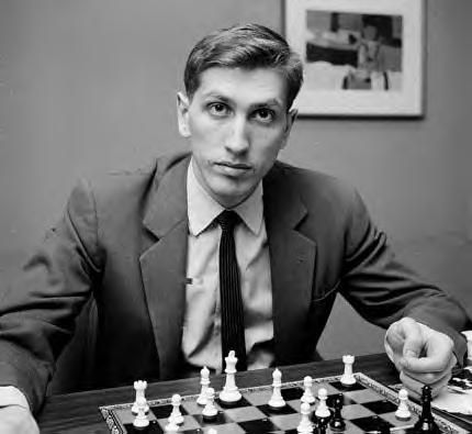 Bobby Fischer (1943 - 2008) One of the greatest chess players in history. He became the first American world chess champion after he defeated Boris Spassky of the Soviet Union during the Cold War in 1972.