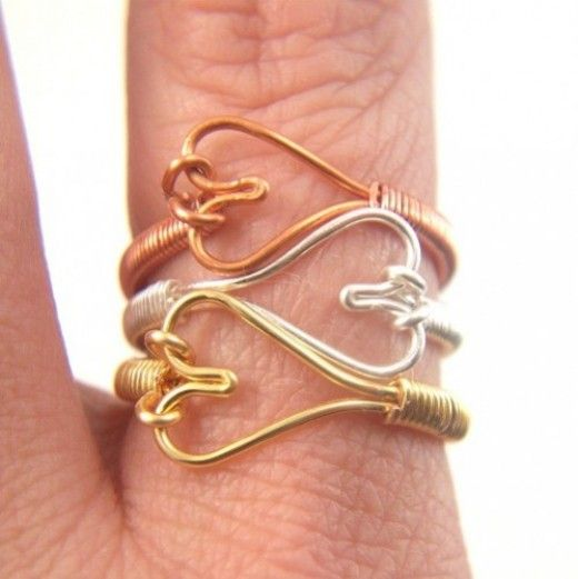 Easy DIY Project Heart Shaped Ring Out Of Wire