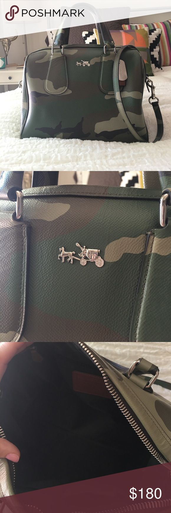Coach Camo Surrey Satchel In EUC shows minor wear on corners. See pics. Ask questions. Absolutely no low ball offers. Limited edition bag Coach Bags Satchels