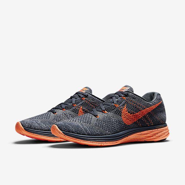 Nike Flyknit Lunar 3 Charcoal Orange