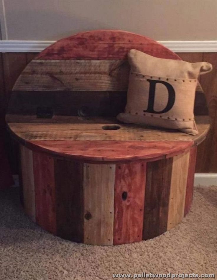 Pallet and Spool Kids Chair