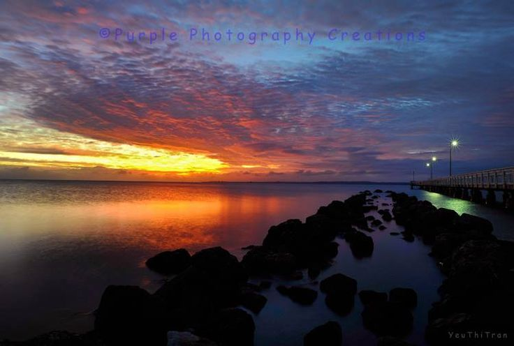 YeuThiTran. Sky at dawn prior to Sunrise at Wellington Point, Brisbane, Australia. Image captured by ©Yeu Thi Tran https://www.facebook.com/pages/Purple-Photography-Creations/148743085221883