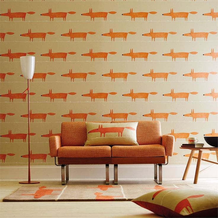 Scion - Designer Fabric and Wallpapers | Products | Mr Fox (NSWA110844) | Spirit & Soul Wallpapers
