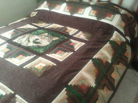 Wolf Quilt King Sized Wildlife Series Of Quilts By