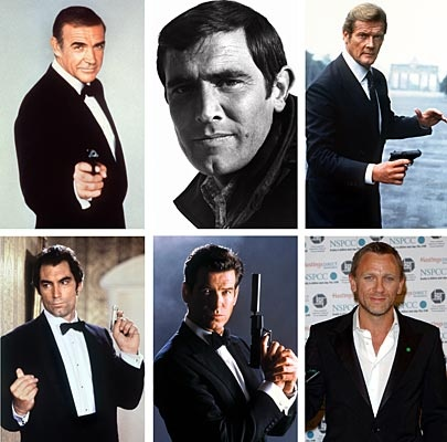 James Bond Favorites: 1. Bronson (best mix of humor,sex) 2. Craig 3. Connery 4. Moore 5. Dalton