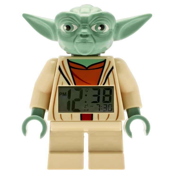 Lego Star Wars Yoda Kids Moveable Minifigure Alarm Clock, Green