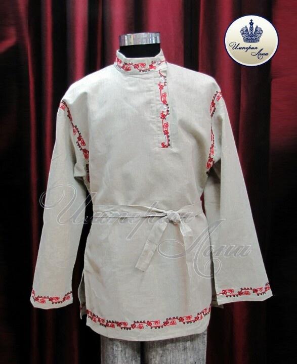 Flax shirt with fancywork