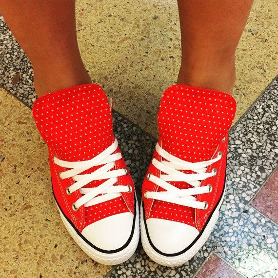 Polka Dot Converse schoenen Rockabilly