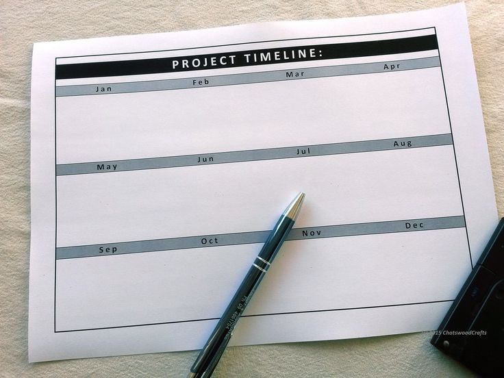 New Overall project timeline template by ChatswoodCrafts