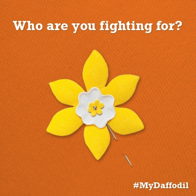 April is the month to fight back against cancer. Who are you fighting for? #MyDaffodil