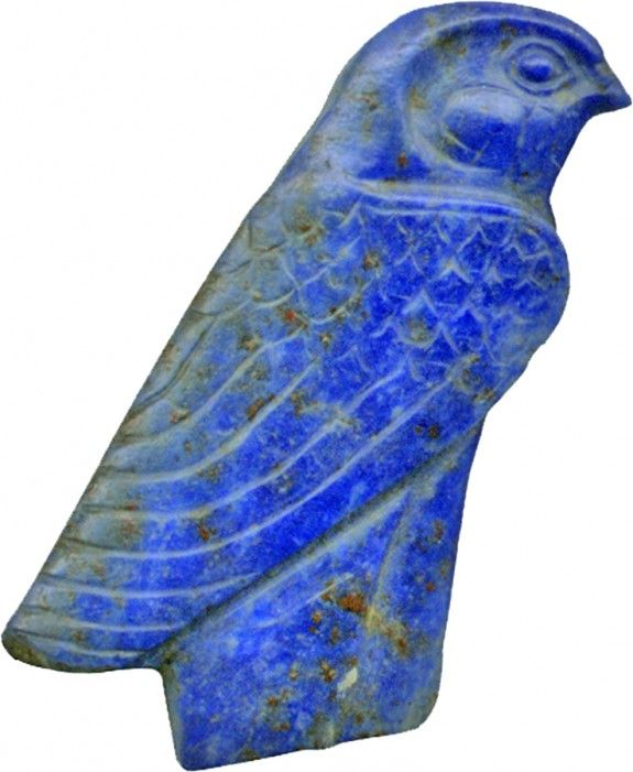 Lapis lazuli falcon inlay, made in Egypt, 1450-1185 BC: I appreciate Egyptian history because I studied it in collage.