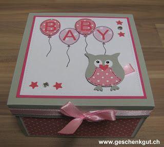 Überraschungsbox Explosionsbox Baby Mädchen Geburt Taufe