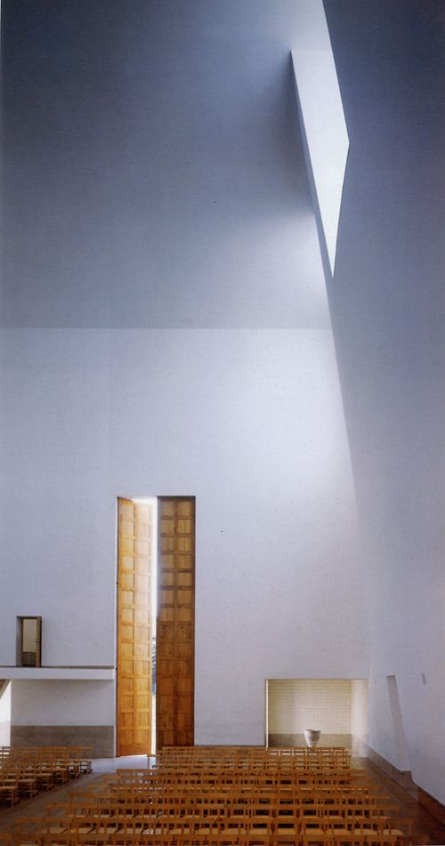 Parish Church Complex of Marco de Canevezes, Portugal. It was designed by Portuguese architect Alvaro Siza with Rolando Torgo and completed in 1990