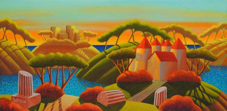 """""""Ti vedo felice.."""" olio su tela  80 x 40 cm, 2010 (Artist: Luca Dall'Olio)"""