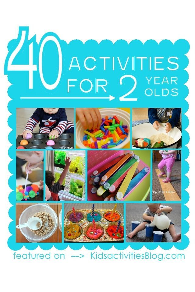 40+ Activities for 2 Year Olds (lots of good ideas for all age groups)
