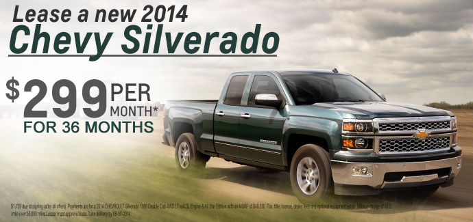 2014 Silverado Lease, Chevy Dealer, Eau Claire, Menomonie, Rice Lake, WI