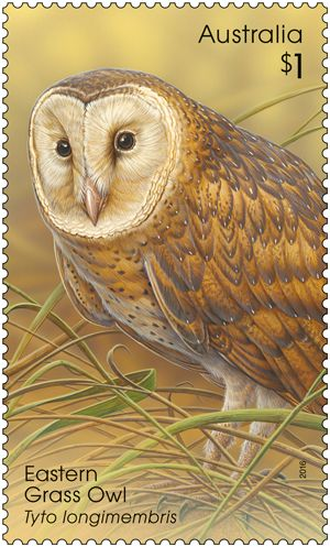 Four of Australia's nine species of owls are featured in the Owls stamp release. Purchase in-store or online: http://auspo.st/29ifDPp #Owls #Philatelic