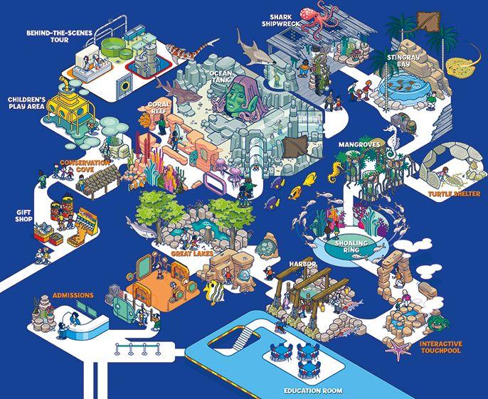 SEA LIFE Michigan Aquarium Map | Eye Candy | Pinterest ...