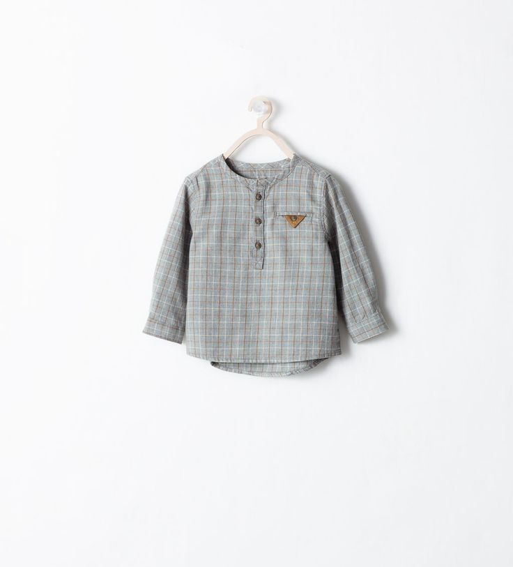 Image 1 of CHECKED SHIRT WITH CORDUROY DETAIL from Zara
